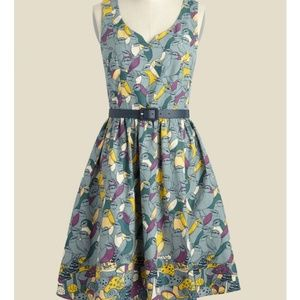 ModCloth To Thrill a Mockingbird Bird print dress